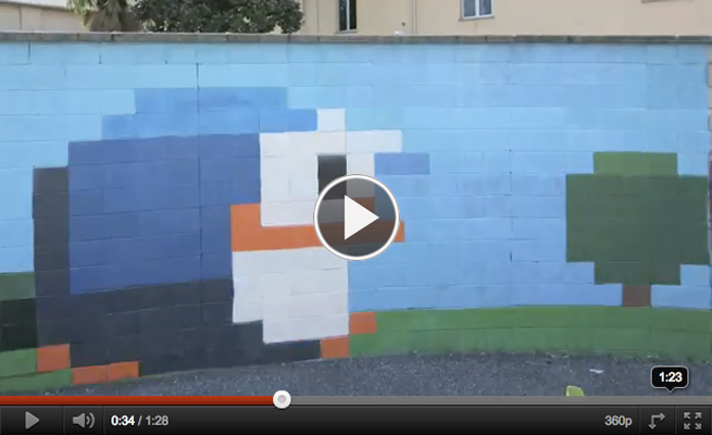 Painted wall animation by Pao