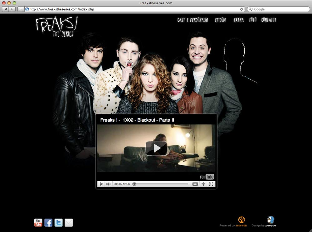homepage sito freaks webseries by paopao studio